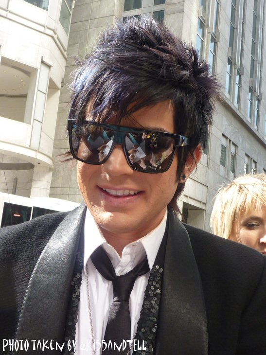 From Kiss and Tell. Adam Lambert continued his international PR tour in the ...